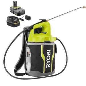 ONE+ 18V Cordless Battery 2 Gal. Chemical Sprayer and Backpack Holster with 2.0 Ah Battery and Charger