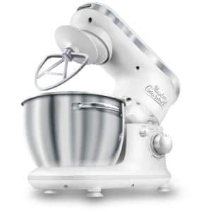 4.2 Qt. 6-Speed White Stand Mixer with Dough Hook