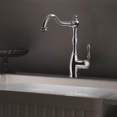 Regal Traditional Single-Handle Standard Kitchen Faucet with Sidespray and CeraDox Technology in Brushed Brass
