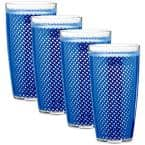 Fishnet 22 oz. Blue Insulated Drinkware (Set of 4)