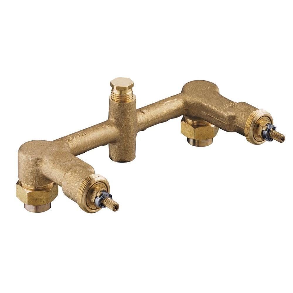 kohler wall mount 2 handle valve system for 8 in centers k 302 k na the home depot