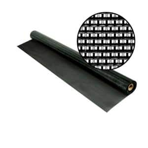48 in. x 25 ft. Black SunTex 80