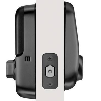 Assure Smart Lock Black Suede Wi-Fi Single Cylinder Deadbolt with Touchscreen Keypad