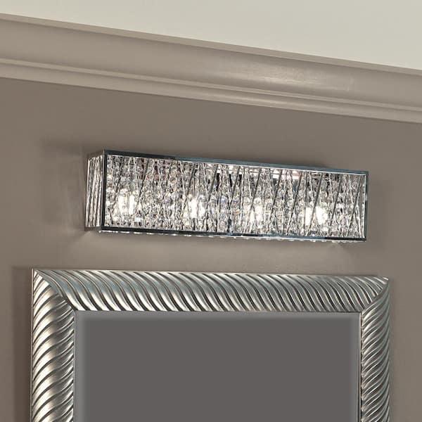 Dsi Lighting Sophia 4 Light Chrome, Crystal Bathroom Vanity Light