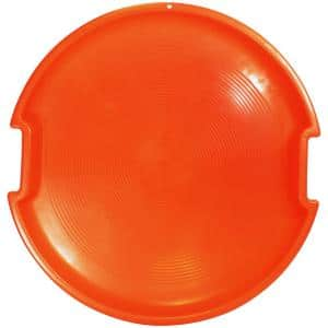 ESP Series 26 in. Day Glow Sno Racer Disc Snow Sled with Molded Handles and Textured Interior in Neon Orange