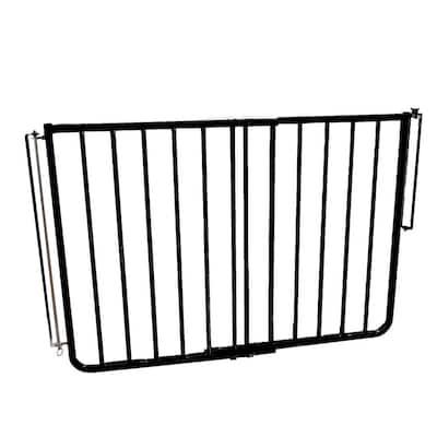 30 in. H x 27 in. to 42.5 in. W x 2 in. D Outdoor Safety Gate in Black