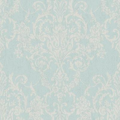 Victorian Damask Duck Egg Wallpaper Sample