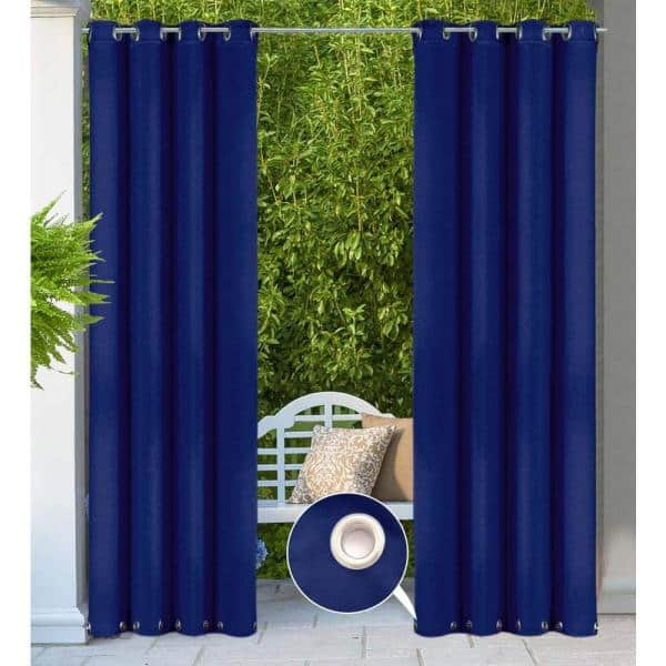 50 In W X 84 L Patio Outdoor Curtain, Patio Panel Curtains