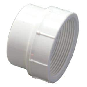 6 in. PVC DWV Spigot x FIP Coupling Adapter Fitting