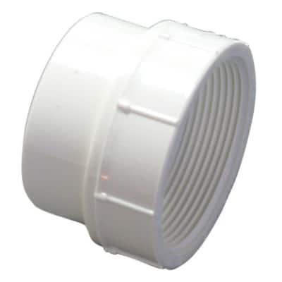 6 in. PVC DWV Spigot x FIP Coupling Adapter Fitting