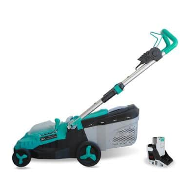 14 in. 40-Volt Brushless Lithium-Ion Cordless Battery Walk Behind Push Lawn Mower 4.0 Ah Battery/Charger Included