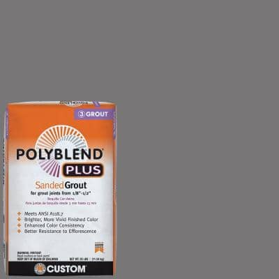 Polyblend Plus #19 Pewter 25 lb. Sanded Grout