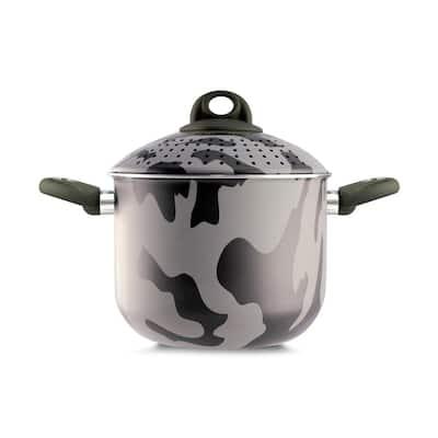 PastaSi 7 qt. Aluminum Nonstick Pasta Pot in Camouflage with Lid