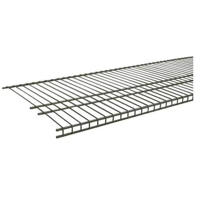 SuperSlide 72 in. W x 16 in. D Nickel Ventilated Wire Shelf