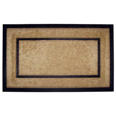 DirtBuster Single Picture Frame Black 22 in. x 36 in. Coir with Rubber Border Door Mat