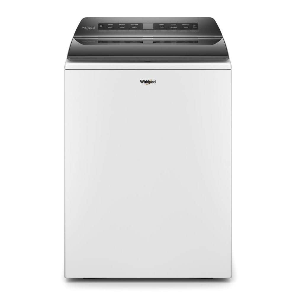 Whirlpool 4.7 cu. ft. White Top Load Washing Machine with Built-in Water Faucet and Stain Brush