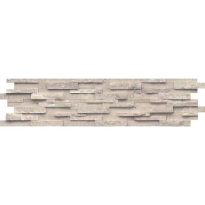 Limestone Presidio Ivory Ivory 5.91 in. x 23.62 in. Stacked Stone Honed Limestone Mosaic Tile (0.969 sq. ft./Each)