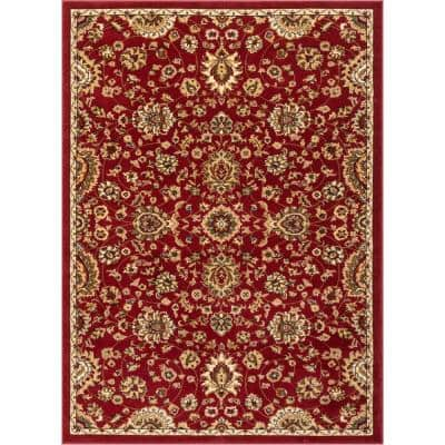 Barclay Bahia Traditional Oriental Red 5 ft. 3 in. x 7 ft. 3 in. Area Rug