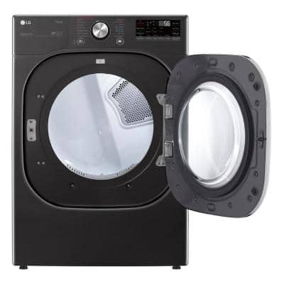 7.4 cu. ft. Ultra Large Capacity Black Steel Smart Gas Dryer with TurboSteam
