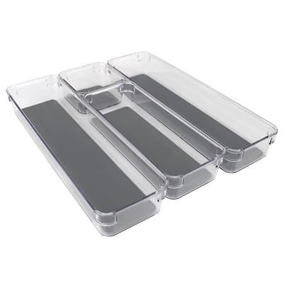 2 in. H x 3.75 in. W x 12.75 in. D Plastic Drawer Organizer