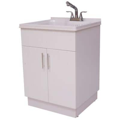 Shaker Laundry cabinet kit with pull-out faucet