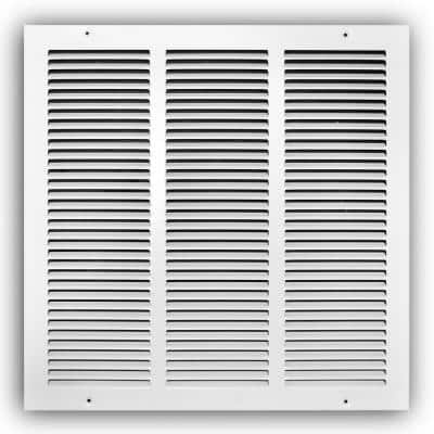 14 in. x 14 in. White Return Air Grille