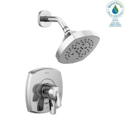 Stryke 1-Handle Wall Mount 5-Spray Shower Faucet Trim Kit in Chrome (Valve Not Included)