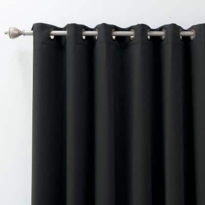 Black Grommet Blackout Curtain - 100 in. W x 108 in. L