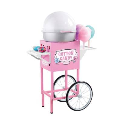 Vintage Pink Cotton Candy Machine with 6 Cotton Candy Cones