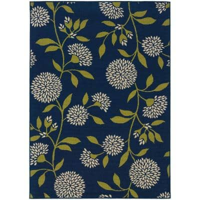 Aster Navy 5 ft. x 8 ft. Area Rug