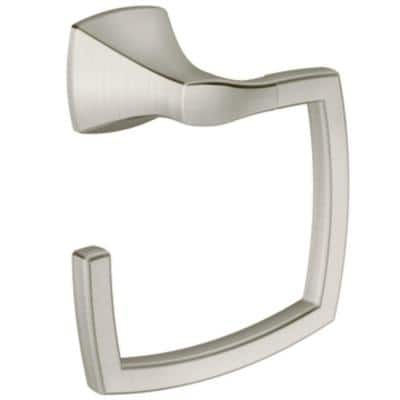 Voss Towel Ring in Brushed Nickel