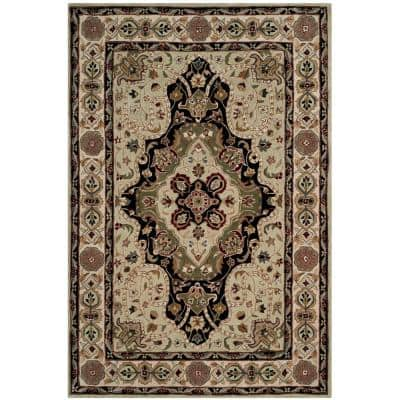 Total Performance Soft Green/Ivory 8 ft. x 10 ft. Border Area Rug