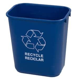 28 qt. Blue Imprinted Recycling Logo Waste Basket (12-Pack)