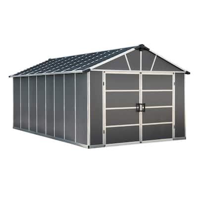 Yukon 11 ft. W x 17.2 ft. D x 8.3 ft. H Dark Gray Garage Shed