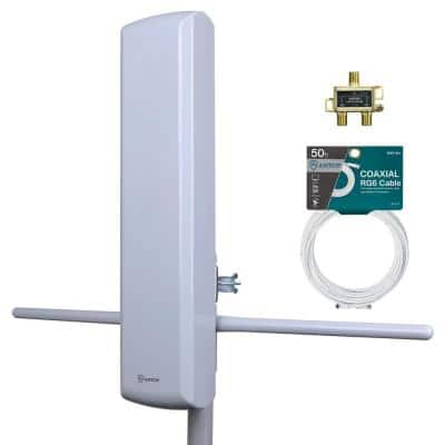 Big Boy Mini Pro 3-Outdoor HDTV Antenna Kit with Splitter and 50 Cable