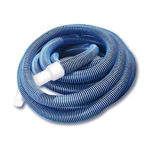 27 ft. Spiral Wound EVA Vacuum Hose in Blue with White Cuffs