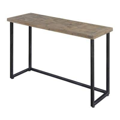 Laredo 43 in. Natural/Black Standard Rectangle Wood Console Table