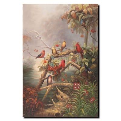 24 in. x 32 in. Birds Canvas Art
