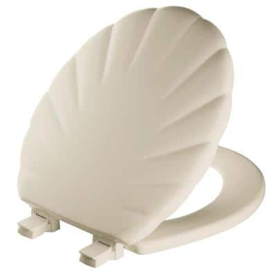 Round Closed Front Toilet Seat in Bone