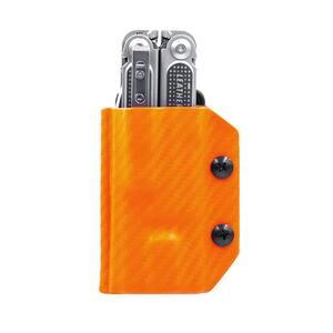 Kydex Multi-Tool Sheath for Leatherman Free P2 - Multi-Tool, Multi-Tool Holder Belt Holster Cover (Carbon Fiber Orange)