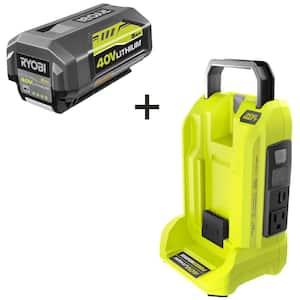 40V 300-Watt Power Inverter with 5.0 Ah Battery