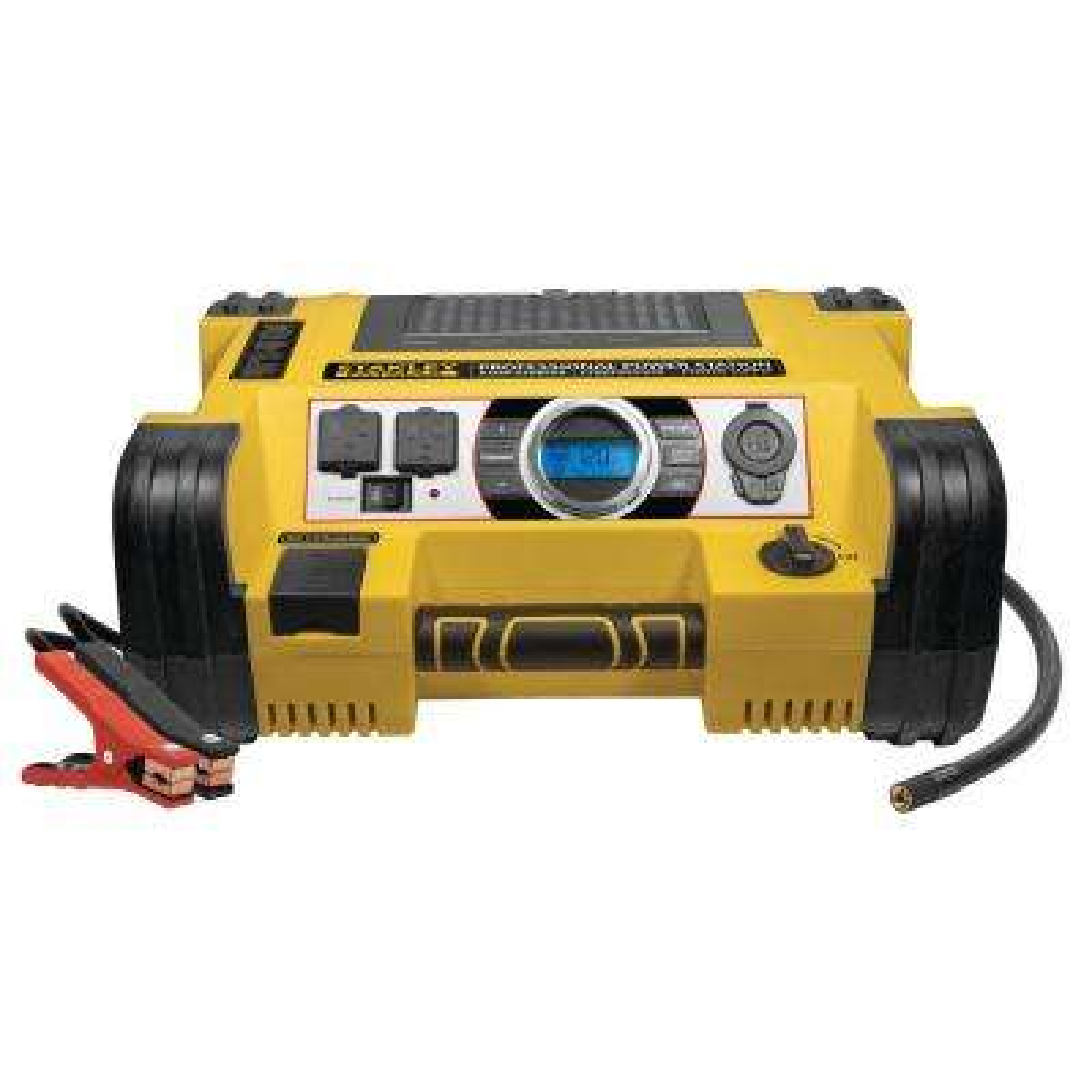 1400 Peak /700 Instant Amp Portable Car Jump Starter with 500-Watt Inverter and 120 PSI Air Compressor