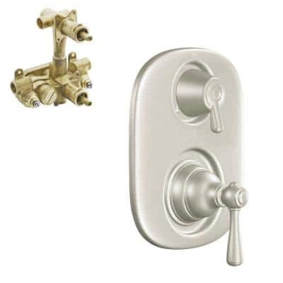 Kingsley 2-Handle Moentrol Valve Trim Kit in Brushed Nickel (Valve Included)