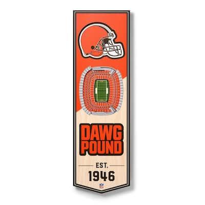 NFL Cleveland Browns 6 in. x 19 in. 3D Stadium Banner-FirstEnergy Stadium