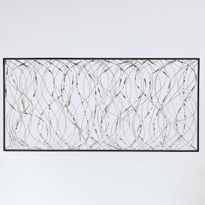Metal Infinity Rectangular Wall Decor