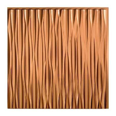 Dunes Vertical 2 ft. x 2 ft. Glue Up Vinyl Ceiling Tile in Oil Rubbed Bronze (20 sq. ft.)