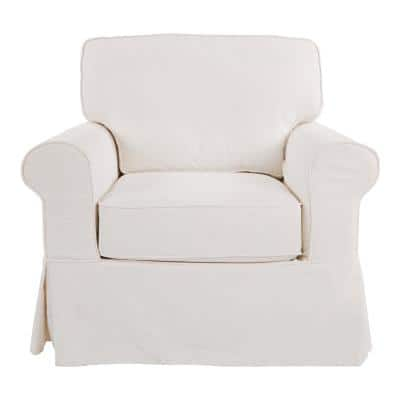 Ashton Chair with Ivory Slip Cover