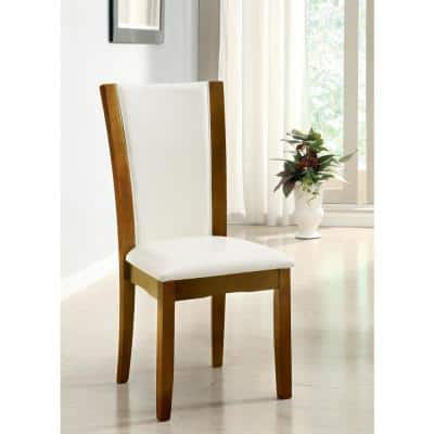 Manhattan I Dark Cherry and White Contemporary Style Side Chair