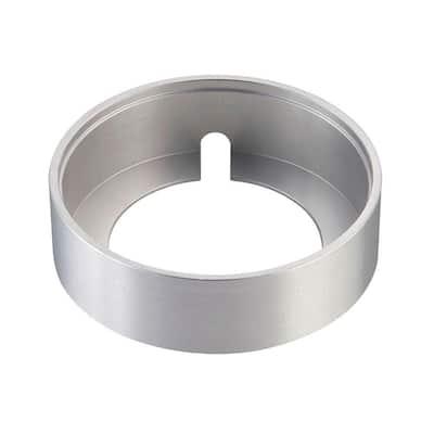 Alpha Collection Brushed Aluminum Surface Mount Collar