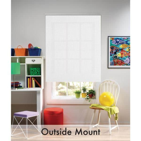 Bali Cut To Size White Cordless Uv Blocking Fade Resistant Roller Shades 55 25 In W X 72 In L 40 1501 05 The Home Depot